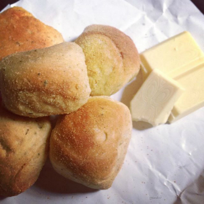 Pandesal with butter