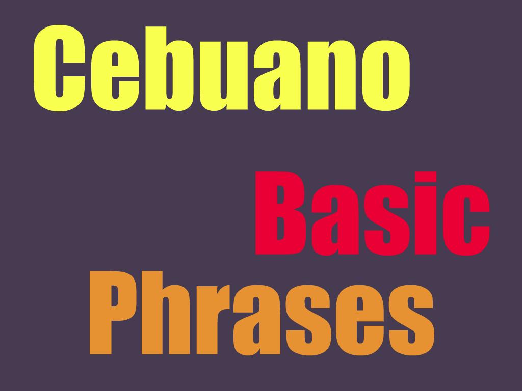Basic Cebuano Phrases