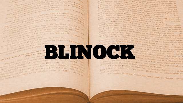 BLINOCK