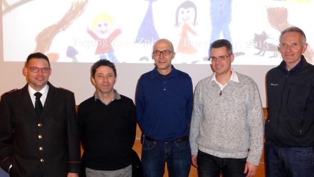 neugewählter Vorstand v.l.n.r.: Roland Breitenberger, Alfred Niederstätten, Michael Bockhorni, Thomas Meisinger, Luca Albertin. Copyright: Michael Bockhorni.