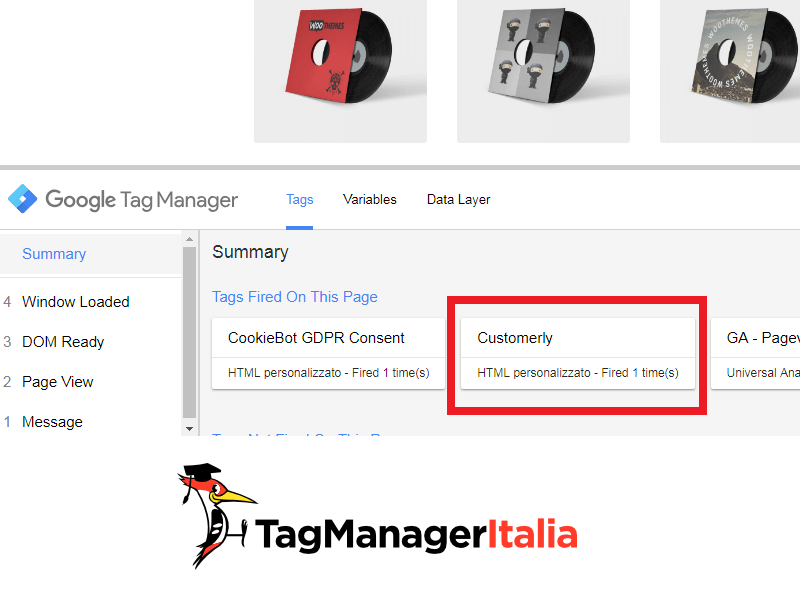 debug install customerly with google tag manager