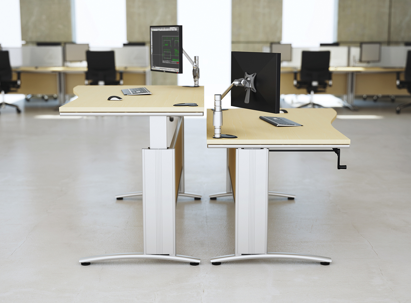 Trestle  Height adjustable Office Desk  TAG office