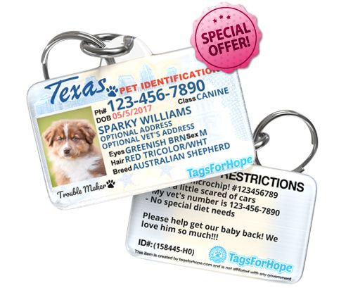 tagsforhope personalized pet id
