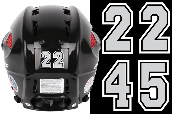 New England Jr Huskies Baseball Helmet Numbers  TAGSports