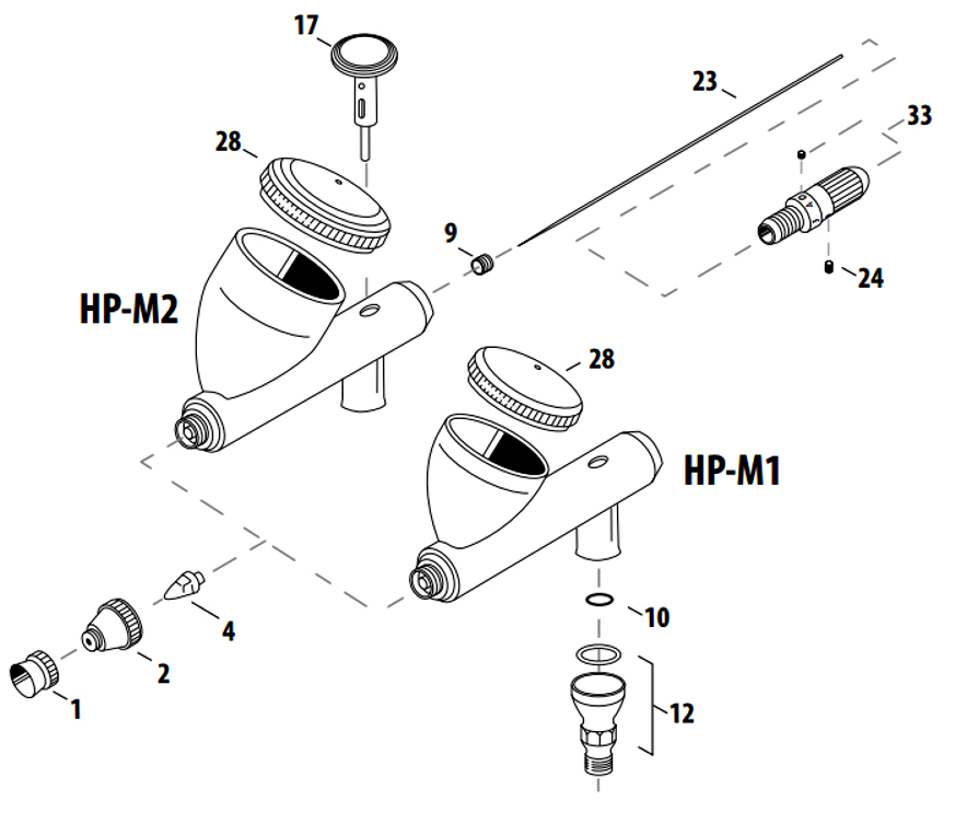 Iwata Airbursh Parts