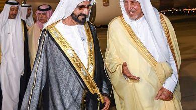 صورة الشيخ محمد بن راشد آل مكتوم يصل إلى جدة