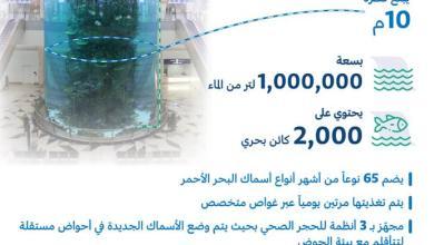 Photo of أكبر حوض أسماك في مطارات العالم بمطار الملك عبدالعزيز