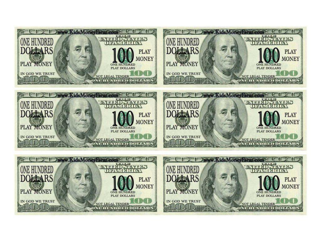 100 Dollar Bill Drop Card Template and 100 Bill Template Virtren