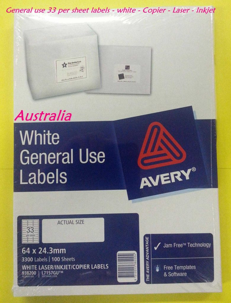 33 Labels Per Sheet Template and Ok Office School Bulk Stationery Supplies Sydney Brisbane