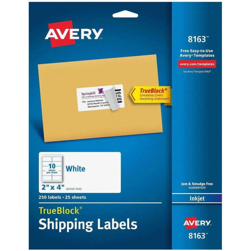 4 Labels Per Sheet Template and Shipping Labels with Trueblock Technology Walmart