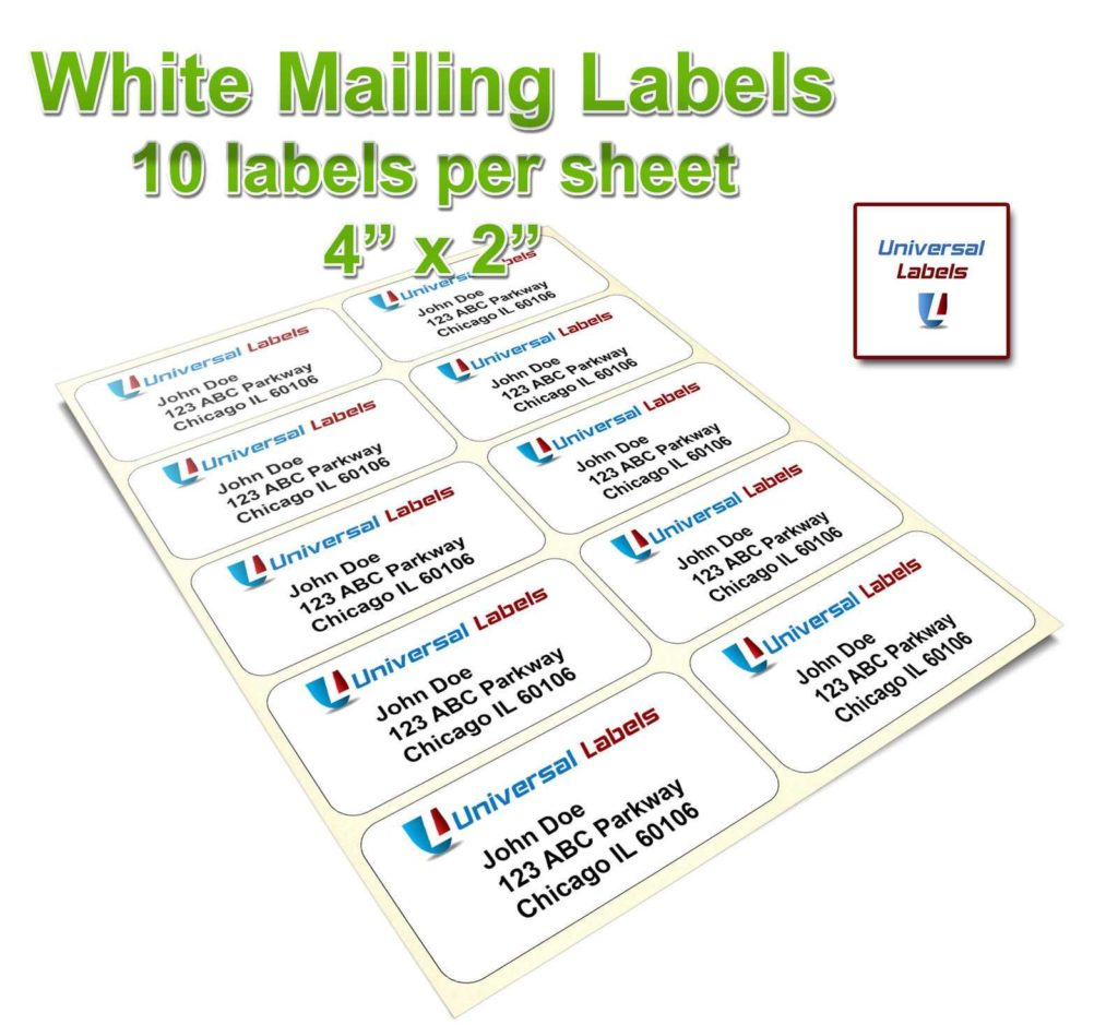 4 Per Sheet Label Template and 100 4 Labels Per Sheet Template Labels Sticky Labels U0026