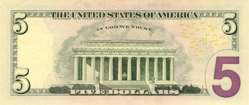 5 Dollar Bill Template and File Us 5 Series 2006 Reverse Wikimedia Mons