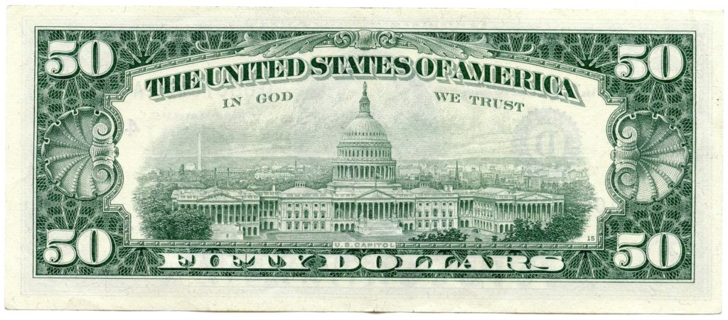 50 Dollar Bill Template and File 50 Dollar Bill Series 1969c Back Wikimedia Mons