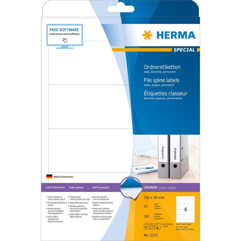 52 Labels Per Sheet Template and File Labels A4 192×59 Mm White Paper Matt Opaque 100 Pcs