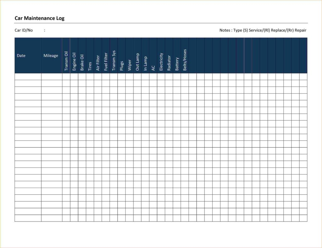 Auto Maintenance Schedule Spreadsheet and Auto Maintenance Schedule Spreadsheet