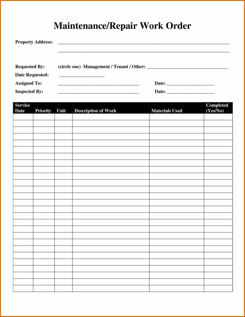 Auto Repair Invoice Template Word and Auto Repair Invoice Template Template