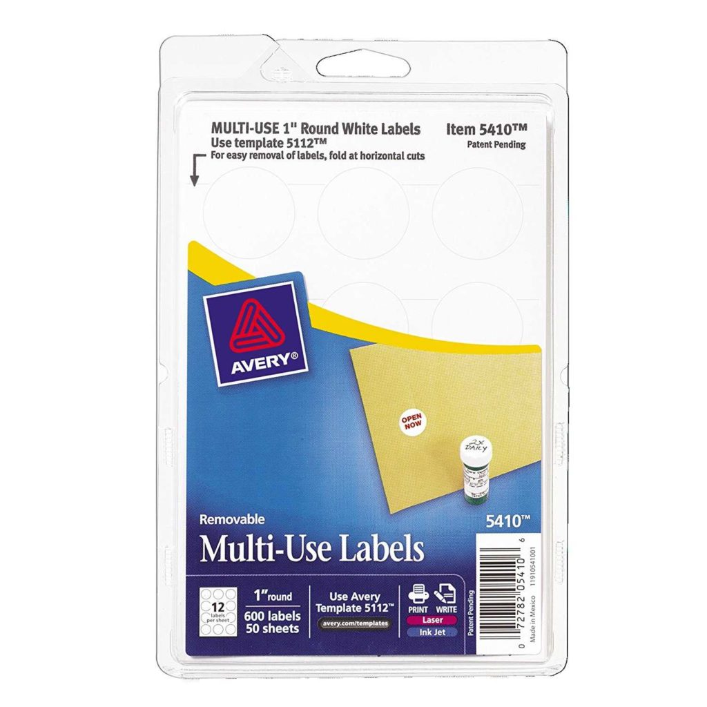 Avery 6 Labels Per Sheet Template and Avery Self Adhesive Removable Labels 1 Inch Diameter