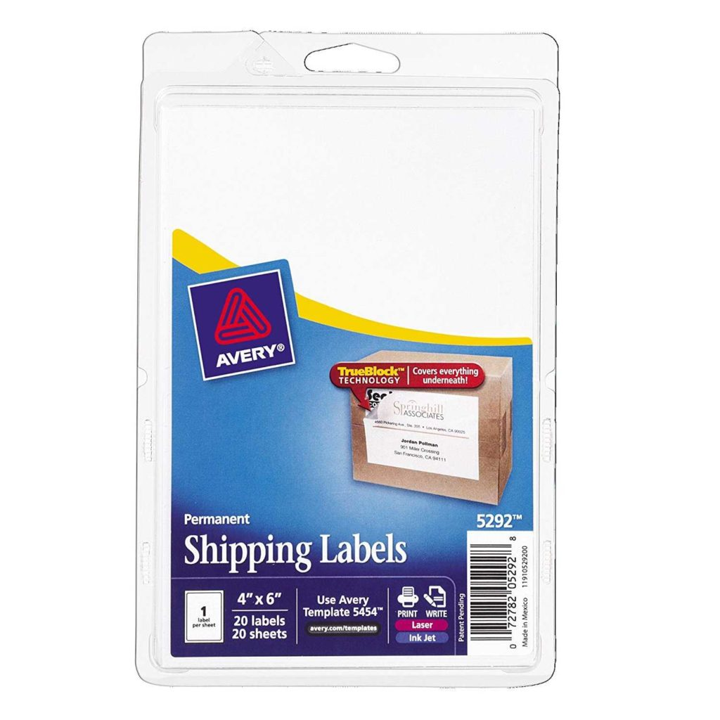 Avery 6 Labels Per Sheet Template and Avery Shipping Labels with Trueblock Technology 4 X
