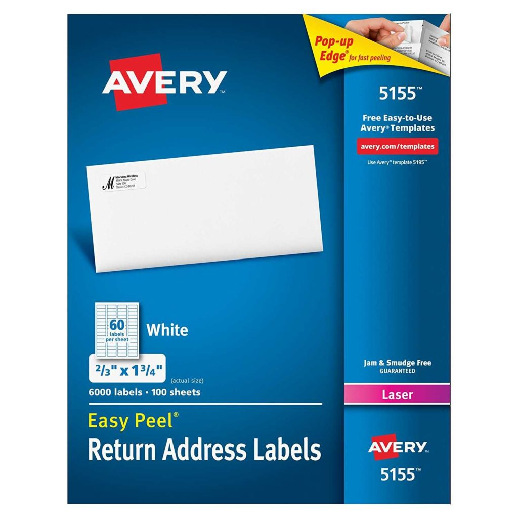 Avery 60 Labels Per Sheet Template and Avery Easy Peel Return Address Labels for Laser