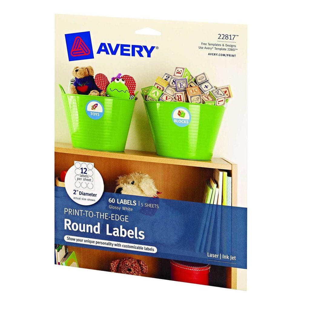 Avery 60 Labels Per Sheet Template and Avery Print to the Edge Round Labels Glossy White 2