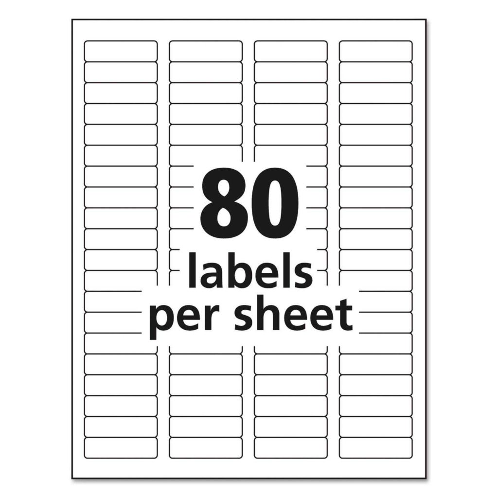 Avery Return Address Labels 80 Per Sheet Template and Easy Peel Return Address Labels by Avery Ave5267 Ontimesupplies