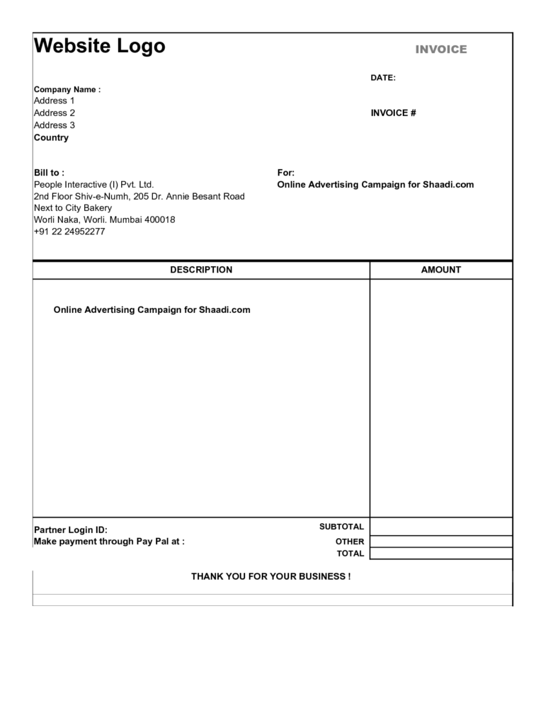 Bakery Invoice Template and Simple Invoice form Invoice Example