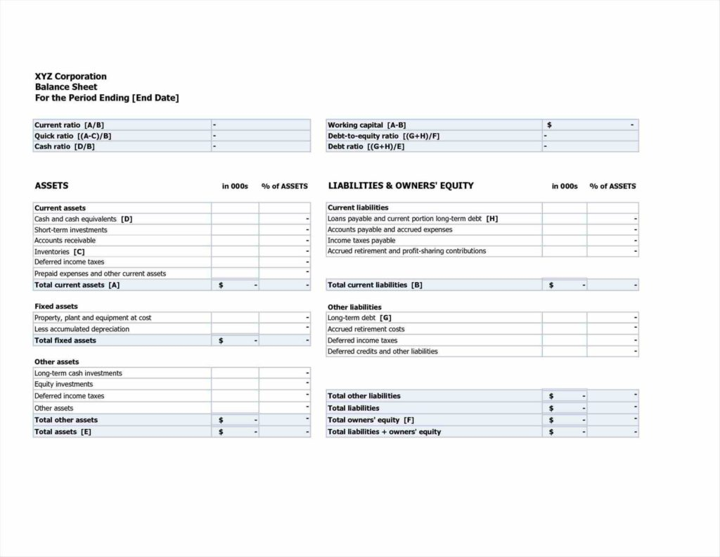 Balance Sheets Template and Register Till Balance Shift In Out Template Google Cash Simple