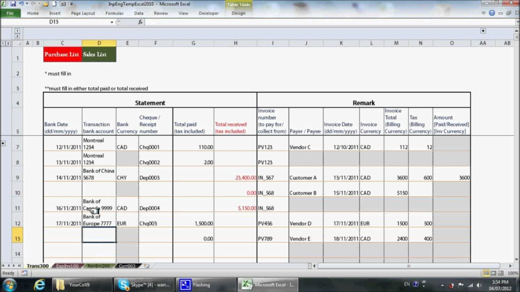 Basic Bookkeeping Spreadsheet and 20 Free Excel Bookkeeping Templates Dingliyeya Spreadsheet Templates