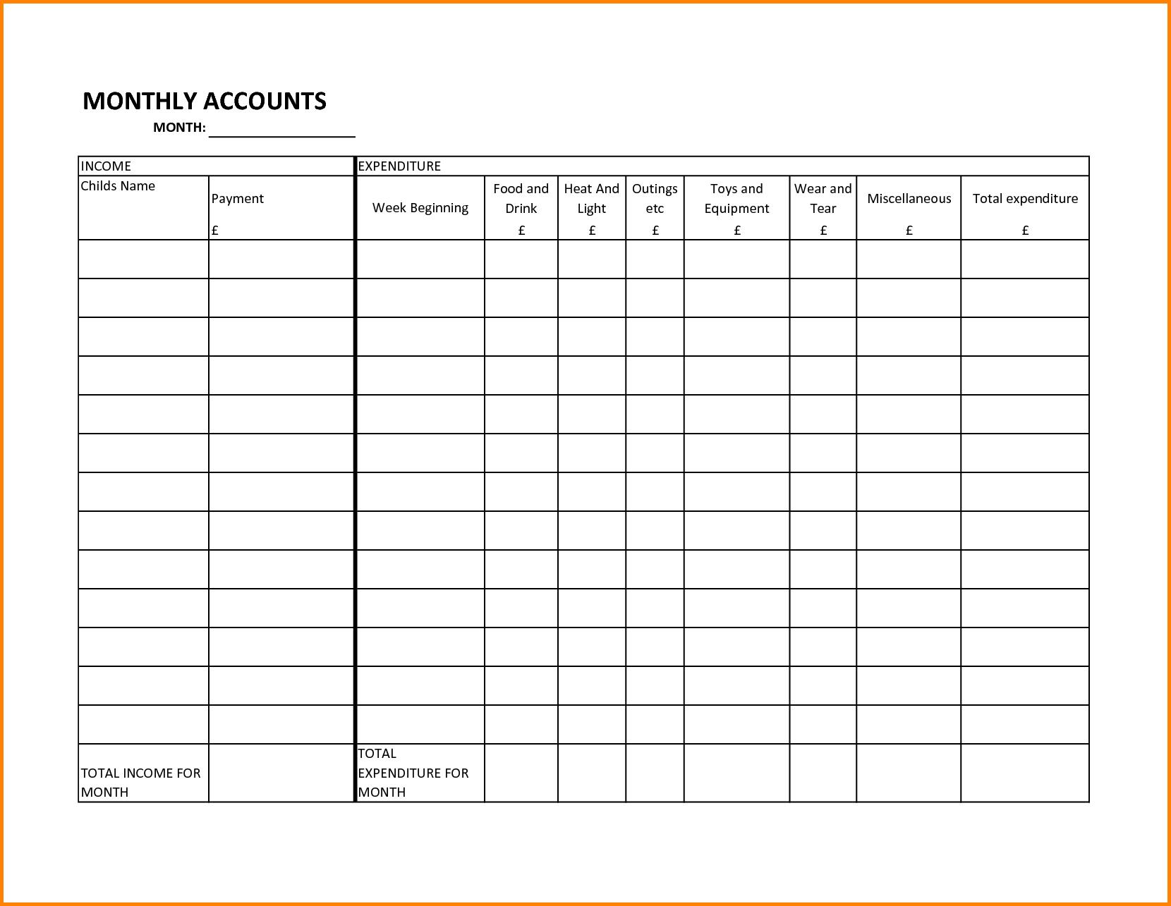 Bill Calendar Template Printable and 8 Monthly Bills Template Memo Templates