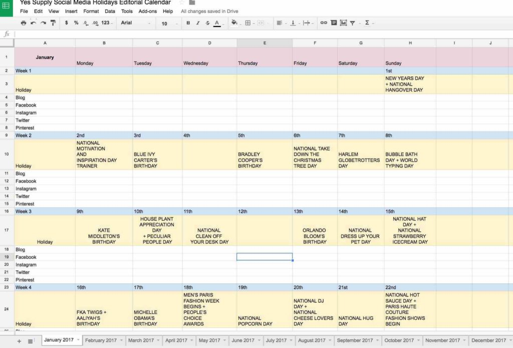 Bill Calendar Template Printable and Calendar Spreadsheet Monthly without Holidays Weekly Template