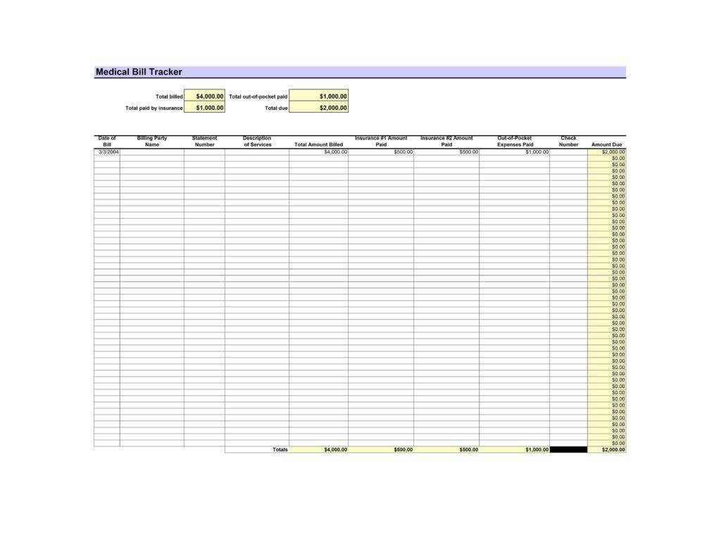 Bill Management Excel Template and Invoice Maker Template