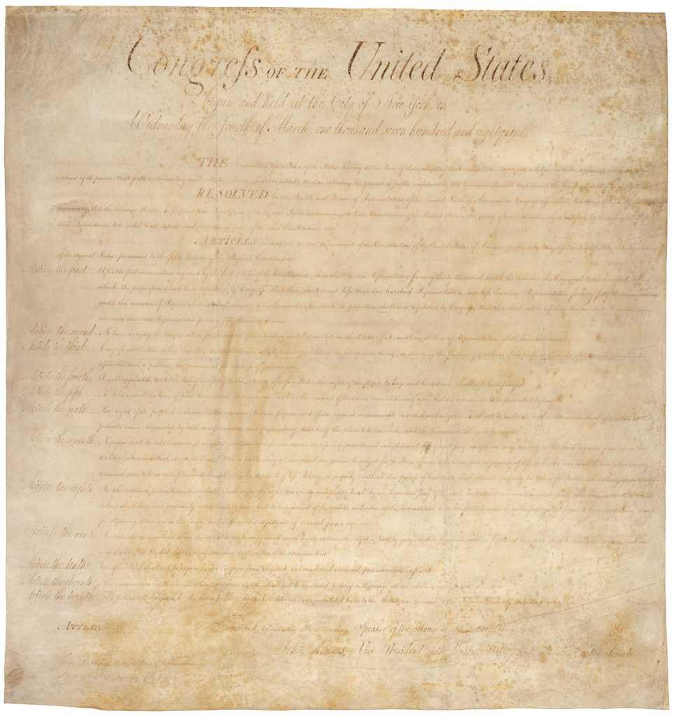 Bill Of Rights Template and Historian S Notebook the Bill Of Rights at 225 Pieces Of History
