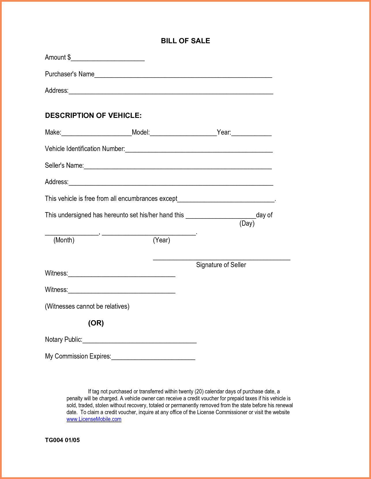 Bill Of Sale Template Alabama and Generic Bill Of Sale for Carabama Vehicle Bill Sale form