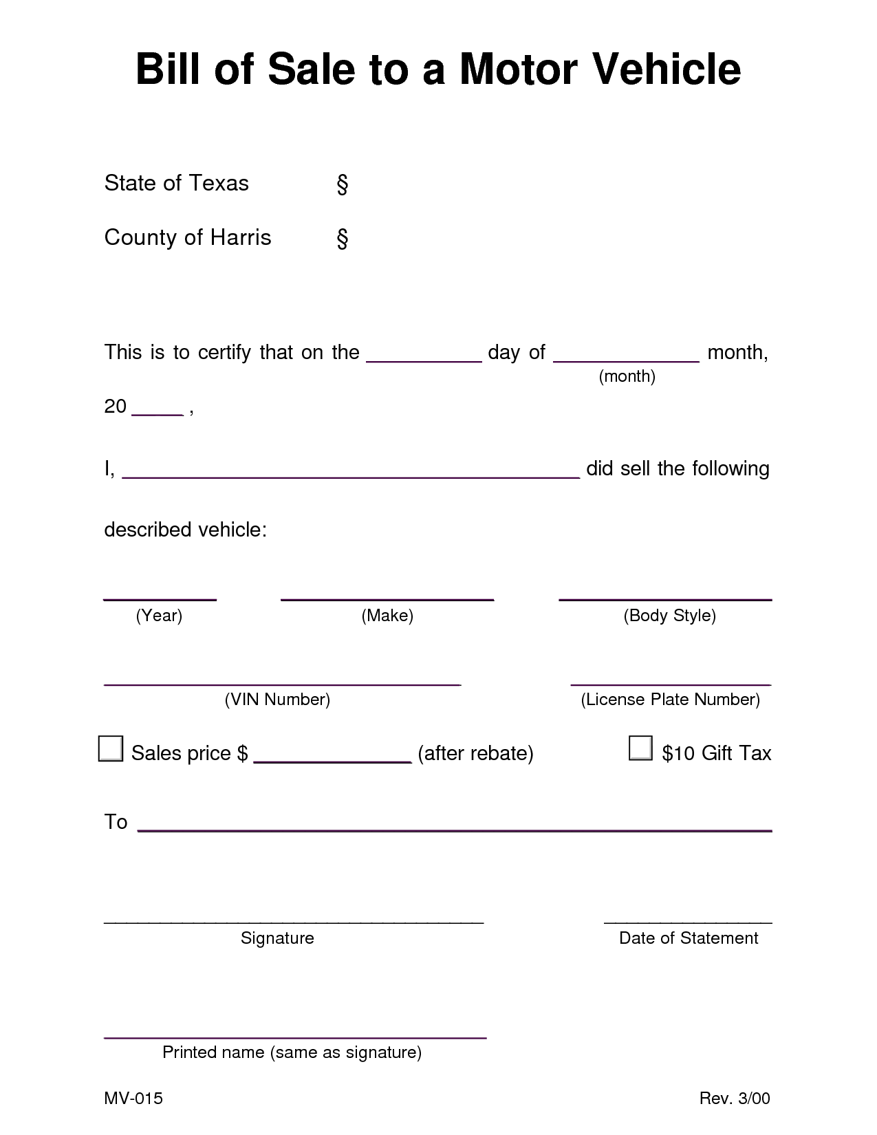 Bill Of Sale Template Texas and Auto Bill Of Sale Template Tristarhomecareinc