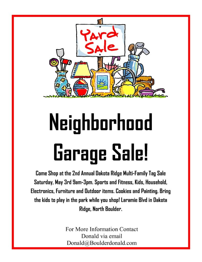 Bill Of Sale Template Virginia and Dakota Ridge Munity Garage Sale May 3rd 2014 Oh Yeah It S