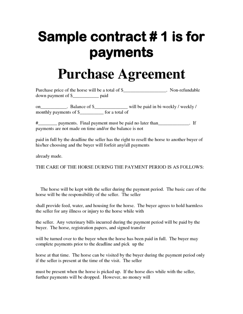 Bill Of Sale with Payments Template and Aa Car Sales Receipt Rabitah