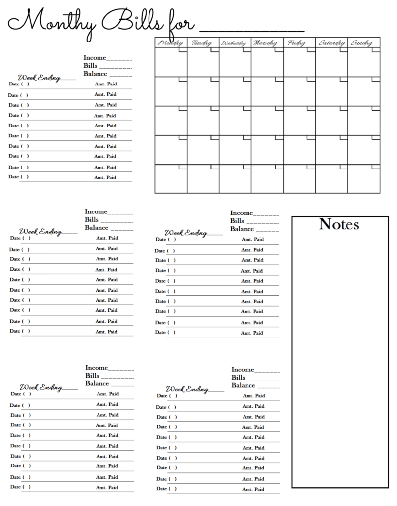 Bill Schedule Template and Bill Worksheet Glenda S World Worksheet to Keep Track Of Paid