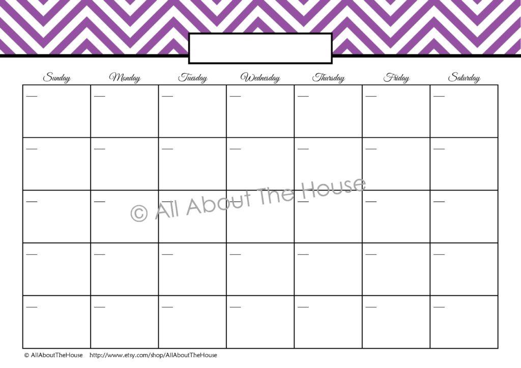 Bill Schedule Template and Blank Calendar Schedule
