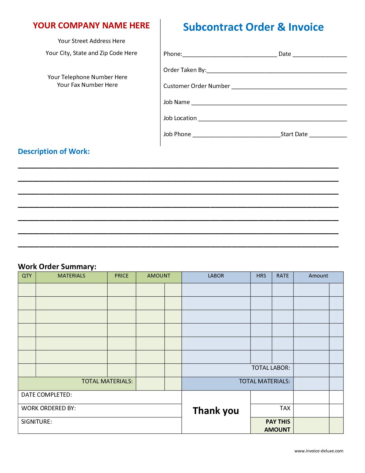 Billing Spreadsheet Template and Microsoft Works Invoice Template Free Robinhobbsfo