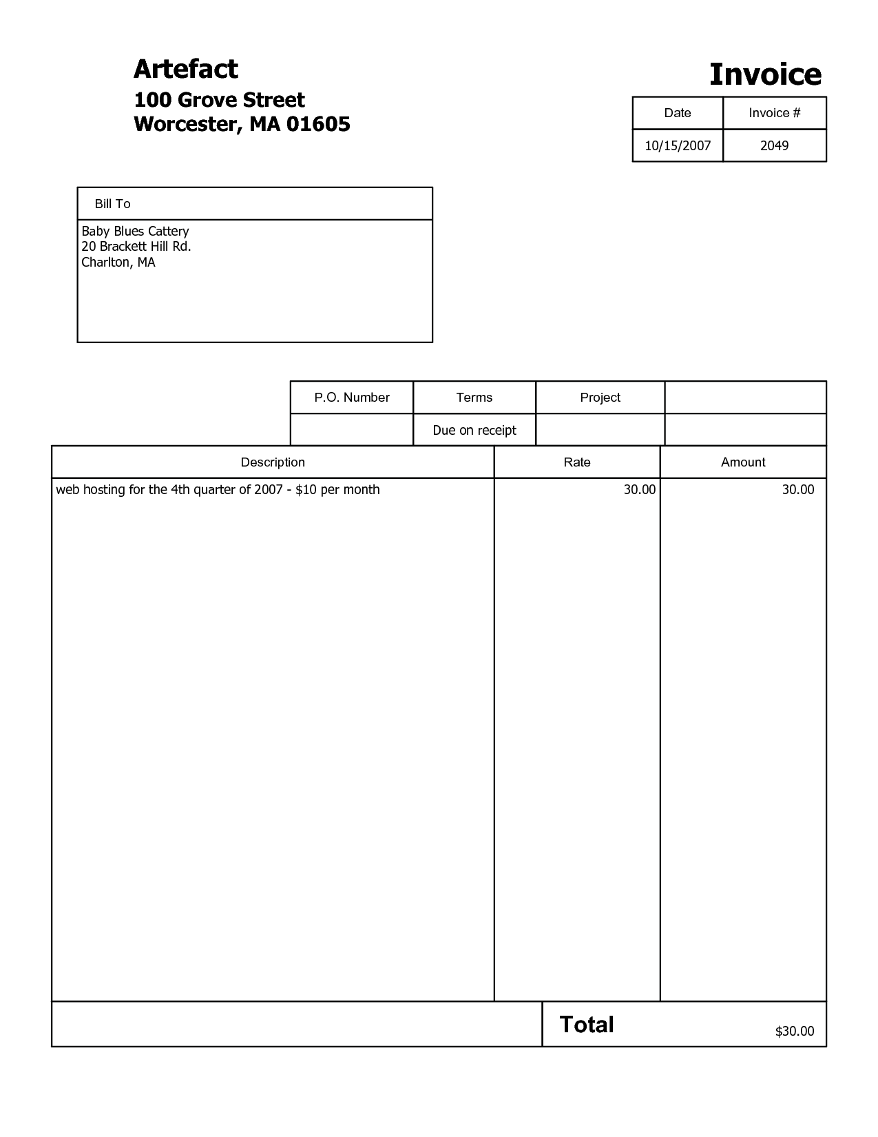 Billing Template for Word and 100 Billing Template Mac Invoice Template Basic Word Free