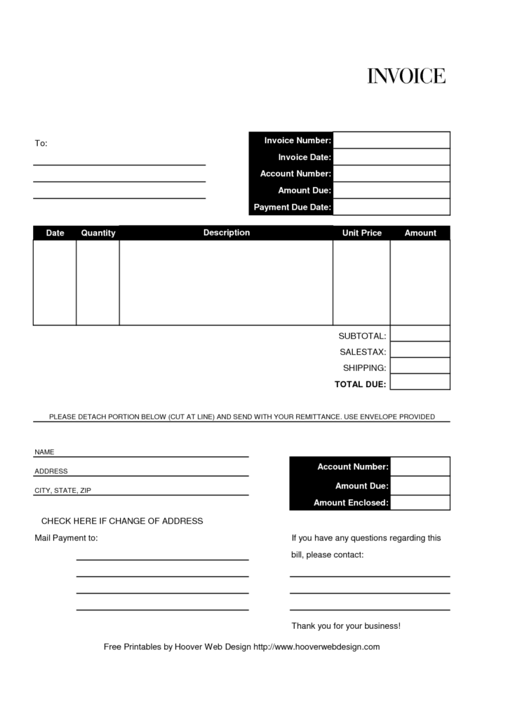 Blank Invoices Template and Invoice format Billing Free Invoice Template