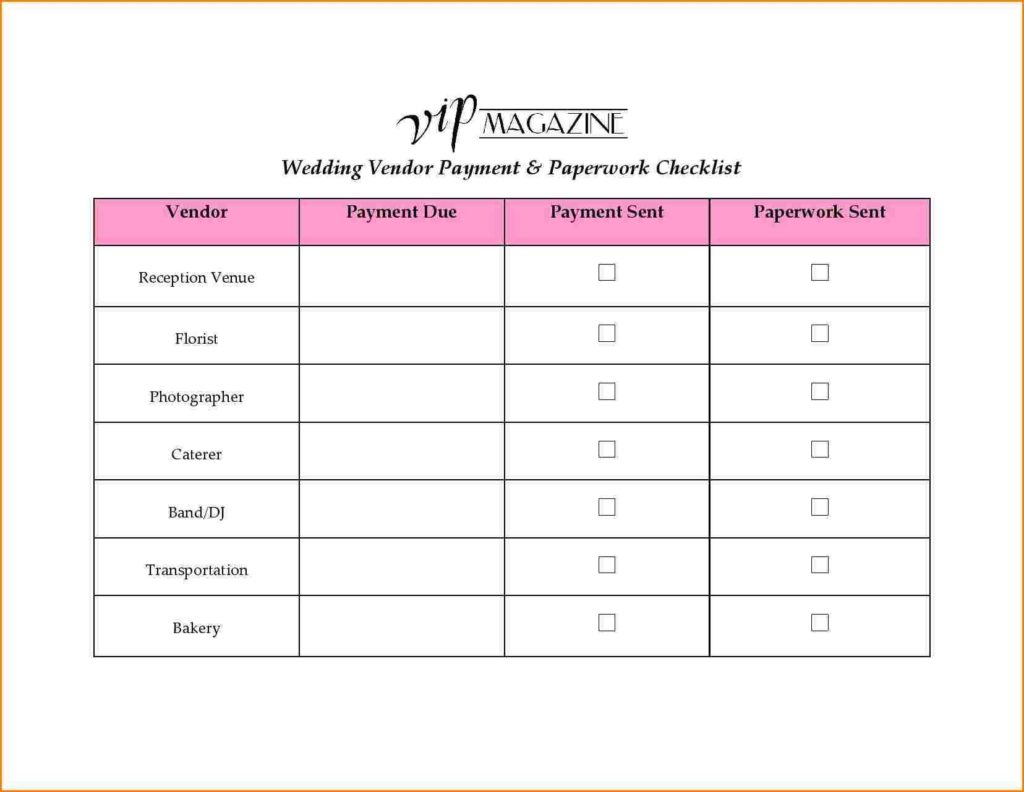 Blood Sugar Spreadsheet and 8 Wedding Vendor List Wedding Spreadsheet