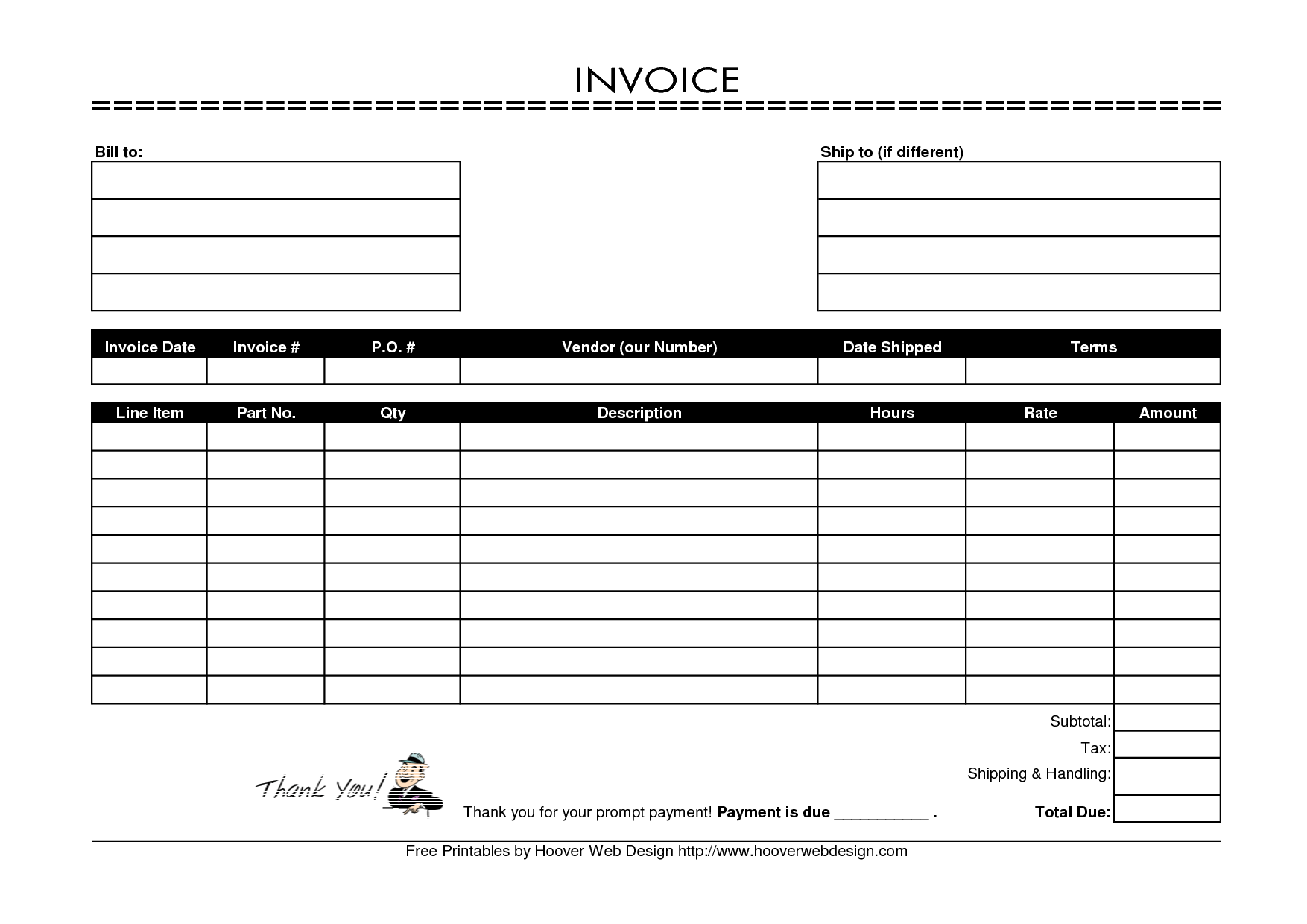 Body Shop Invoice Template and Free Invoice software Small Business