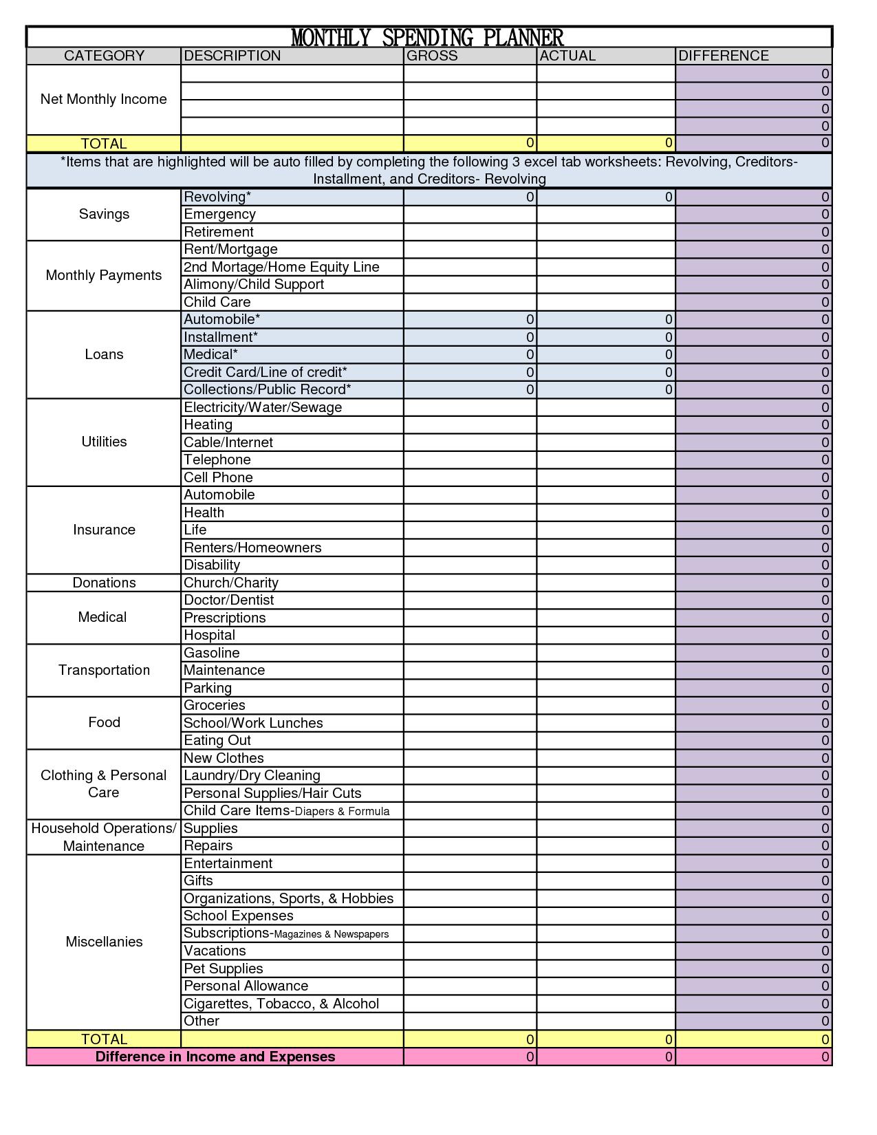 Budget Worksheet Examples and Worksheet Non Profit Bud Worksheet Mifirental Free Printables