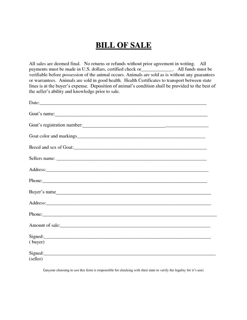 Business Bill Of Sale Sample and Best Photos Of Easy Printable Bill Of Sale Free Printable Blank