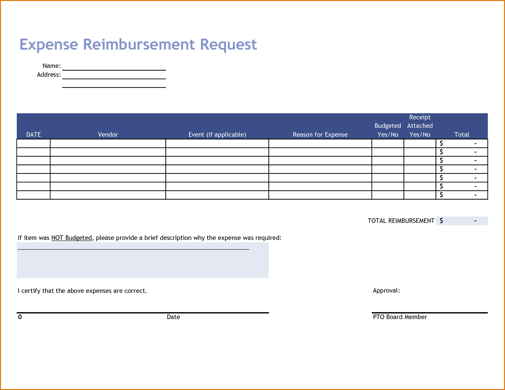 Business Expense Report Template Excel and 7 Excel Expense Report Template Job Resumes Word