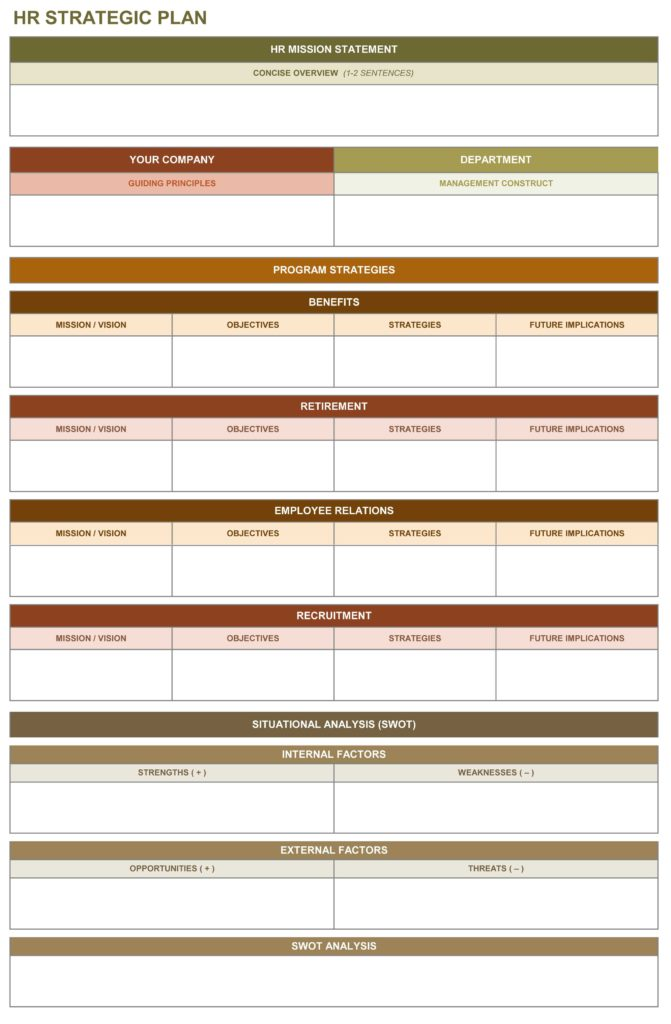 Business Plan Template Excel Free Download and 9 Free Strategic Planning Templates Smartsheet
