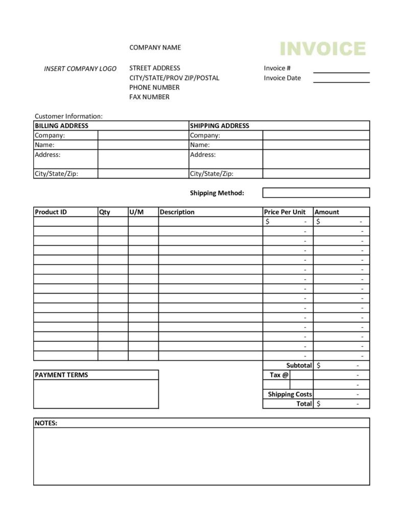 Car Repair Invoice Template Free and Invoice Template On Excel 2010 Firmsinjafo