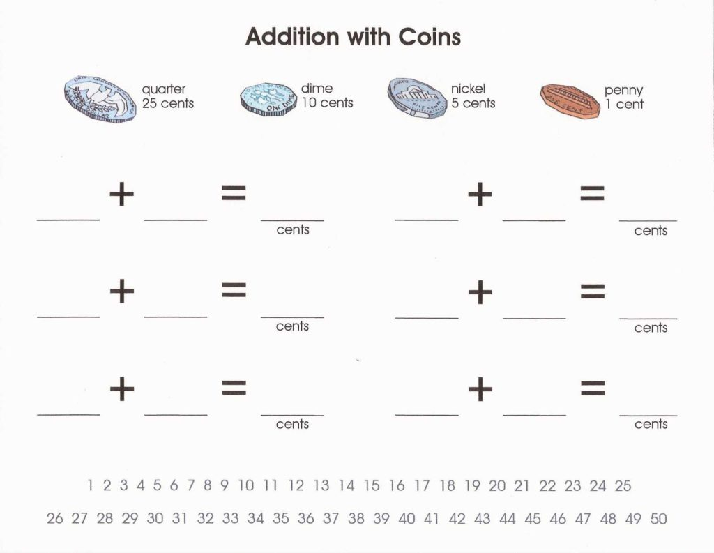 Coin Values Worksheet and Relentlessly Fun Deceptively Educational Counting with Coins