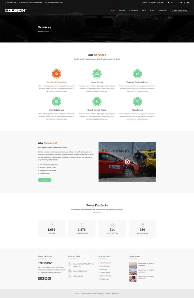 Collision Repair Estimate Template and Collision Car Repair Psd Template by Psdmasters themeforest